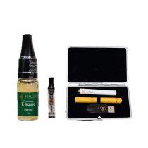 black case and menthol liquid